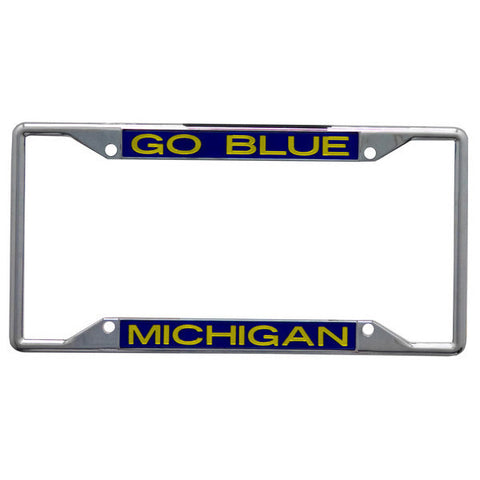 UM Go Blue Metal License Plate Frame