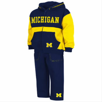 Michigan Toddler Midfield Fleece Set - Navy