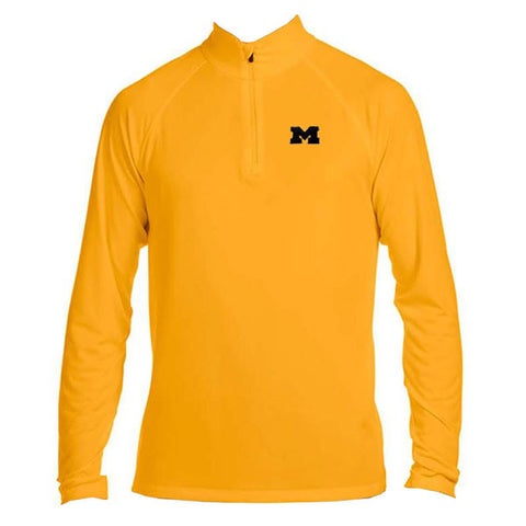 Block M Emb Lightweight Pullover - Athletic Gold