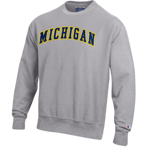 Champion Michigan Tackle Twill Reverse Weave Crew - Oxford