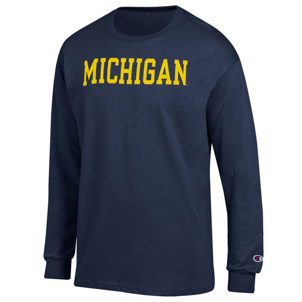 Champion Michigan Basic LS Tee - Navy