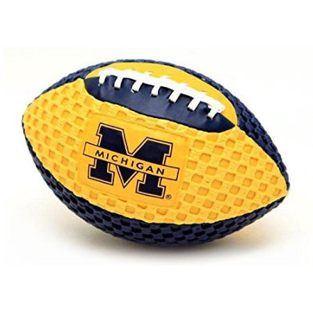 UofM Fun Gripper Footballs - Maize & Blue