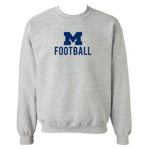 Michigan Football Crewneck - Sport Grey