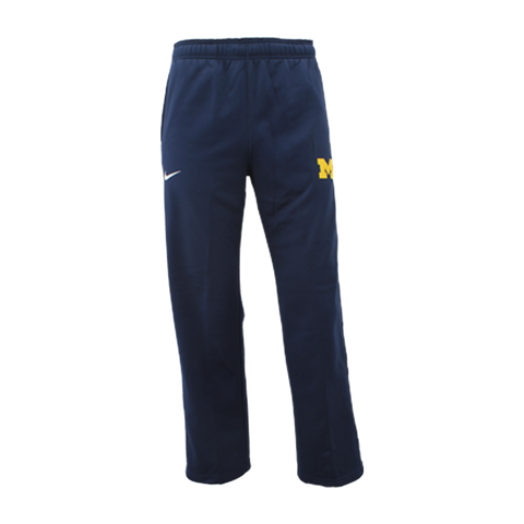 Nike University of Michigan Youth Therma-FIT KO Pant - Navy