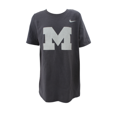 Nike University of Michigan Football Youth Legend Tee - Anthracite