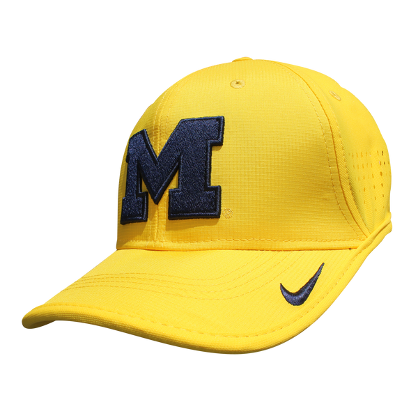 Nike University of Michigan Football Youth Yellow Vapor Sideline Coaches Hat
