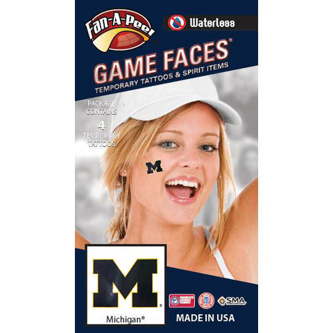 UM Fan-A-Peel Cheek Sticker 4-Pack