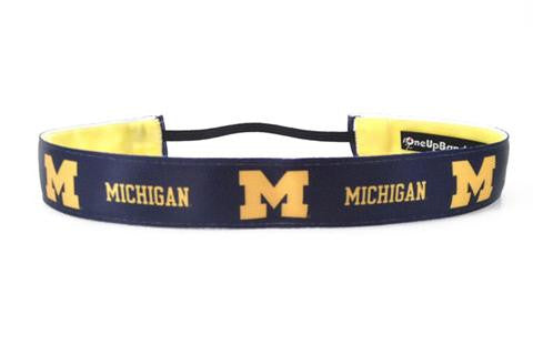 UM Non Slip Headband - Navy/Maize
