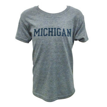Block Michigan Youth - Athletic Grey