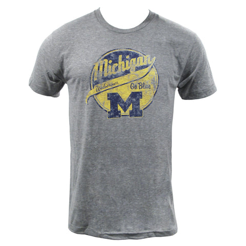 Michigan Baseball Tail - Athletic Grey