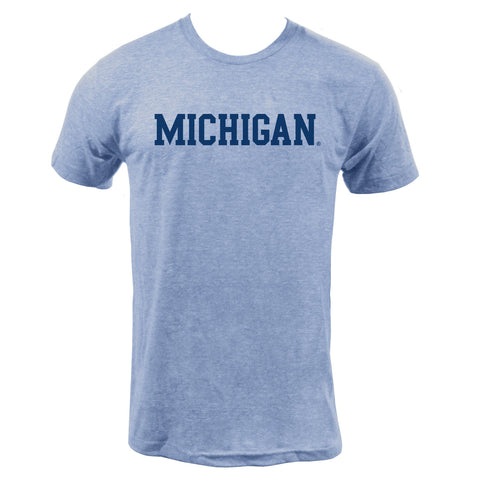 Block Michigan Triblend - Athletic Blue