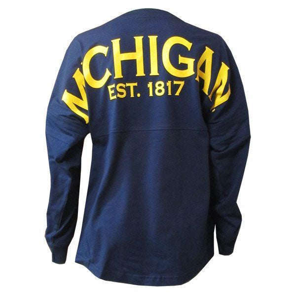 Michigan Pom Jersey Est. 1817 - Navy