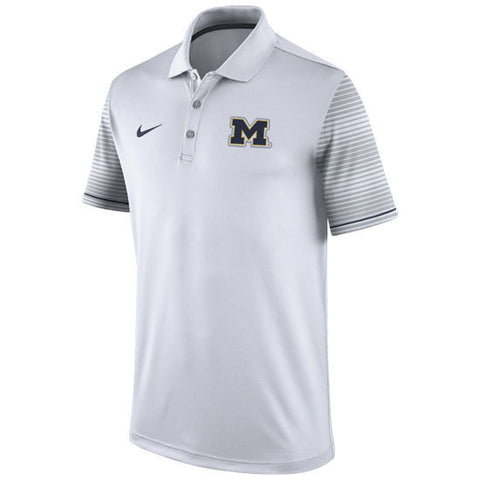 Nike University of Michigan Football White Early Season Coaches Polo
