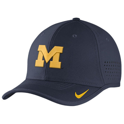Nike University of Michigan Football Youth Navy Vapor Sideline Coaches Hat