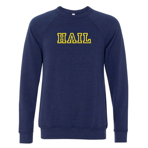 Hail Outline Sponge Fleece - Navy