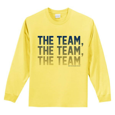 Team Team Team Yth LS Tee - Yellow