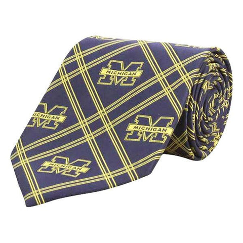 UM Diamond Neck Tie 6259 - Navy/Maize