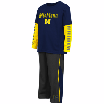 Michigan Toddler Xenon Set - Navy/Maize