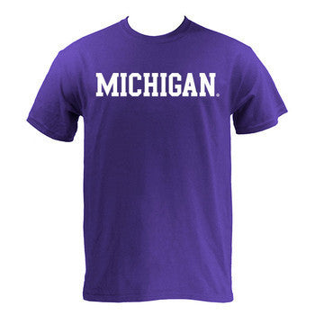 Michigan Basic S/S - Purple