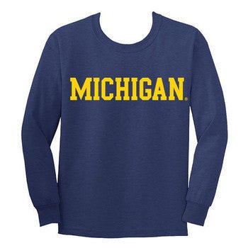Michigan Basic L/S YTH - Navy