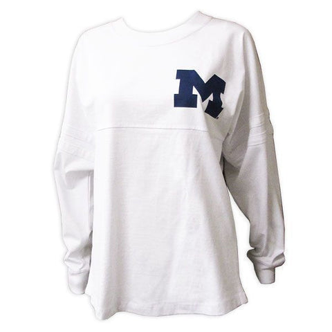 Michigan Pom Jersey Est. 1817 - White