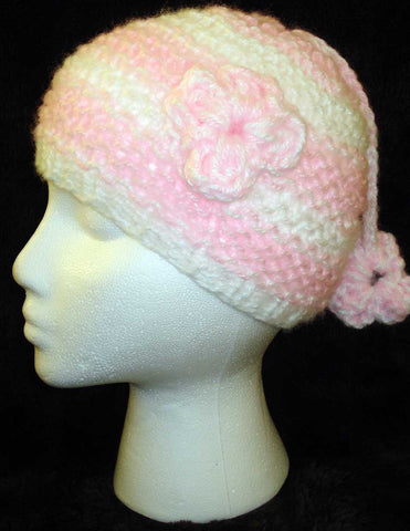 Flower Crochet Hat with Tassle