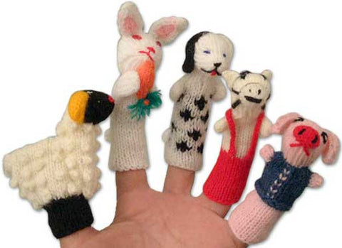 Peruvian Finger Puppets:  Set of 10 Characters: Handmade and Fair Trade