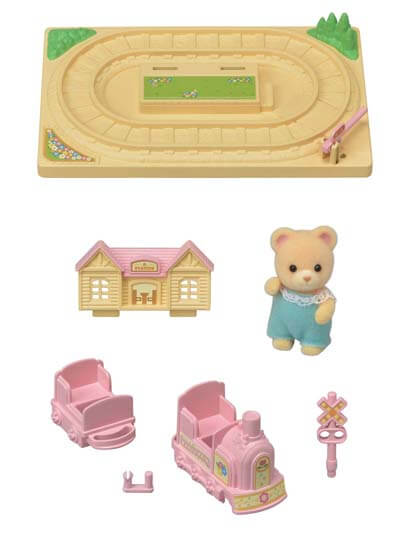 Calico Critters Baby Choo-choo Train - Through the Moongate and Over the Moon Toys