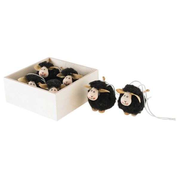 Tiny Woolly Sheep Ornaments