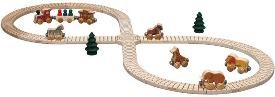 Figure Eight Train Track Set - Through the Moongate and Over the Moon Toys