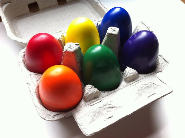 Soy & Beeswax Egg Crayons in Carton