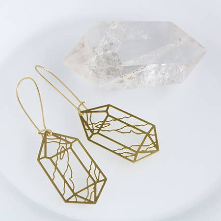 Crystal Double Point Earrings