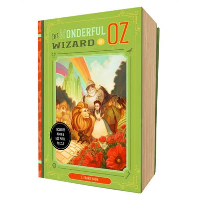 The Wonderful Wizard of Oz Book and 500 piece Puzzle Set