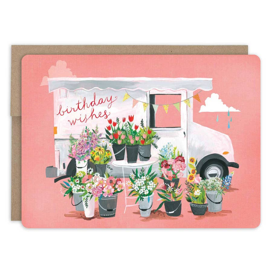 Birthday Wishes Truck Card