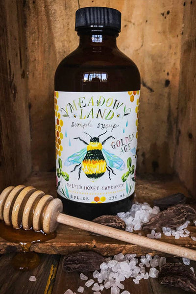 Meadowland Syrup: Golden Age Salted Honey Cardamom