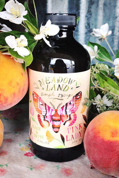 Meadowland Syrup: Pink Lady Peach & Thyme