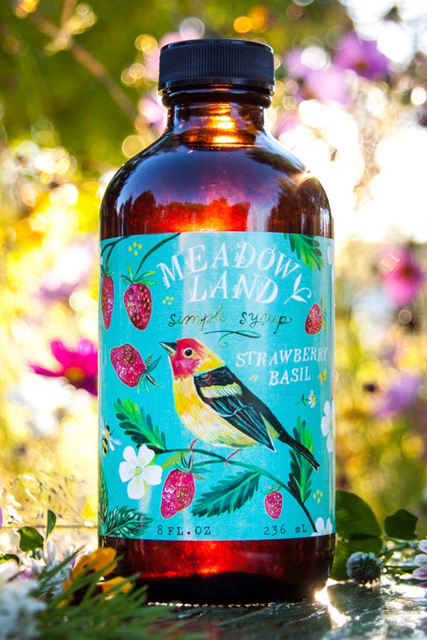 Meadowland Syrup: Tanager Strawberry Basil