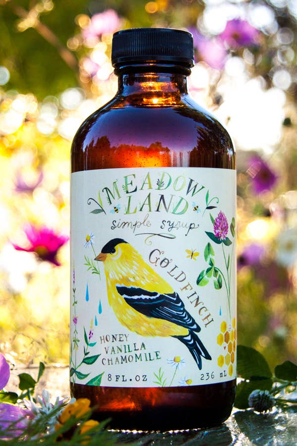 Meadowland Syrup: Goldfinch Honey Vanilla Chamomile