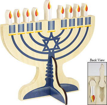 Wooden Menorah