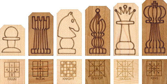 Wooden Chess Piece Set