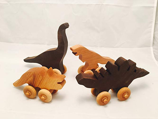 Baldwin Wooden Dinosaur Push Toy