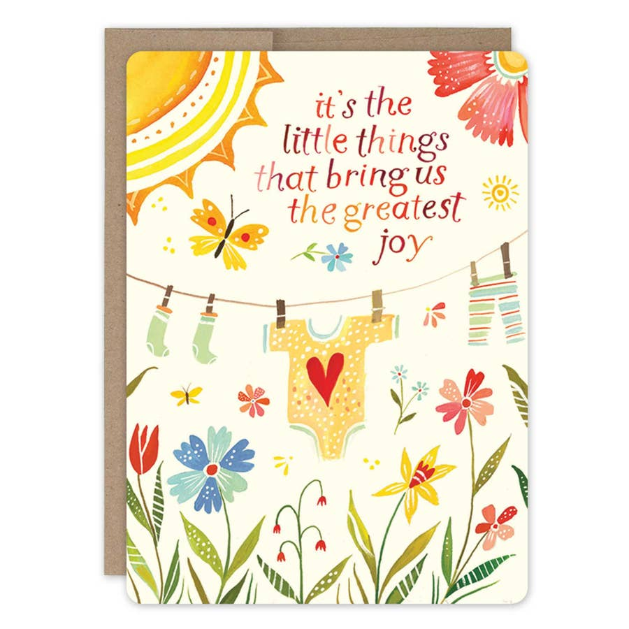 Clothesline New Baby Card