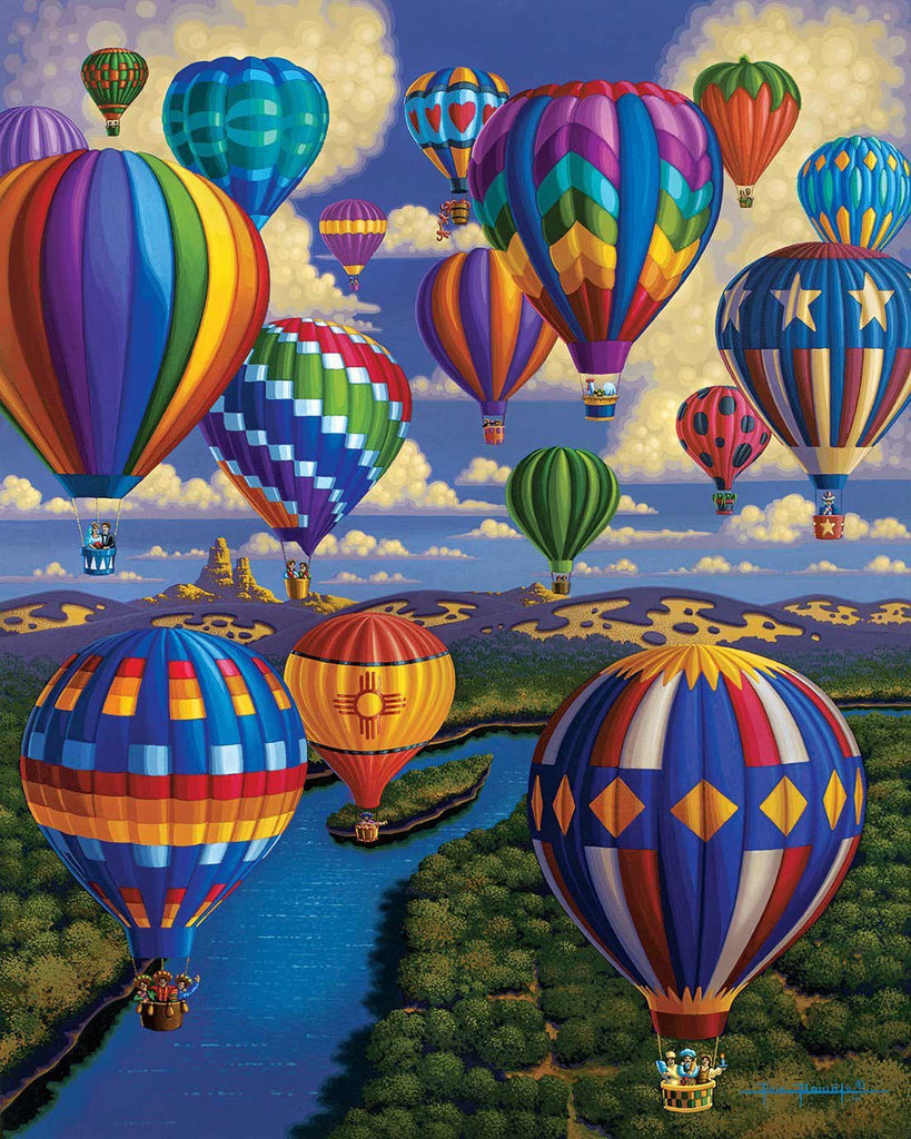 Eric Dowdle Balloon Festival 1000 pc puzzle - Through the Moongate and Over the Moon Toys