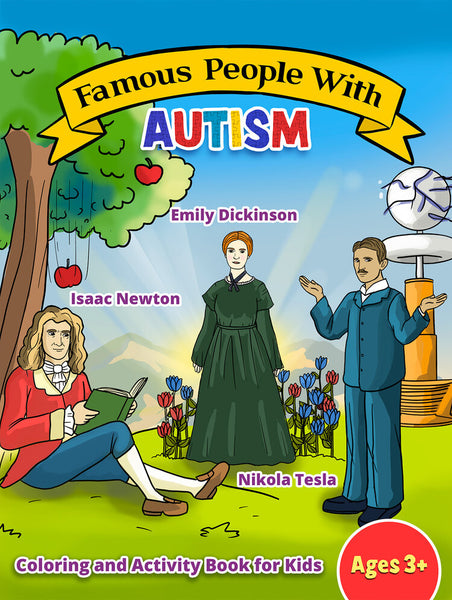 Famous People with Autism Coloring and Activity Book