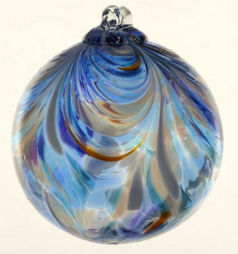 Feather Art Glass Ball 6""