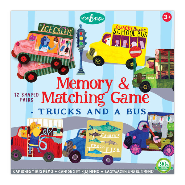Trucks and a Bus Memory & Matching Game