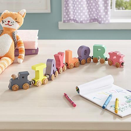 Name Train Letters - Pastels
