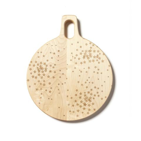 Star Cluster Hardwood Round Cutting Board