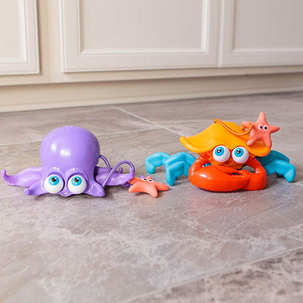 Sea Critter Push Pull Toy