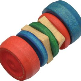 Natural Wooden Rattle - Through the Moongate and Over the Moon Toys